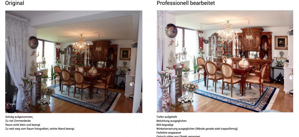 Professionelle Bildbearbeitung für Immobilienmakler