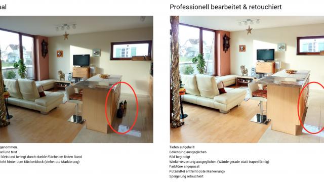 Professionelle Bildbearbeitung für Immobilienmakler und Eigentümer